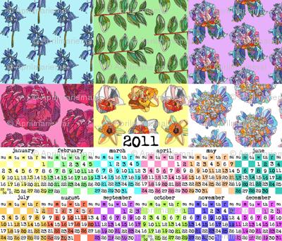 patchwork botanica 2011 calendar