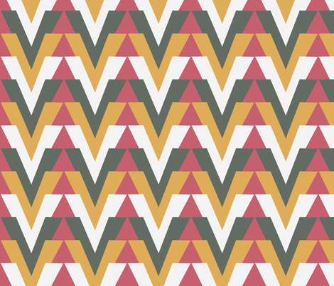 Arrow Alt Strawberry Cream fabric by dolphinandcondor on Spoonflower - custom fabric