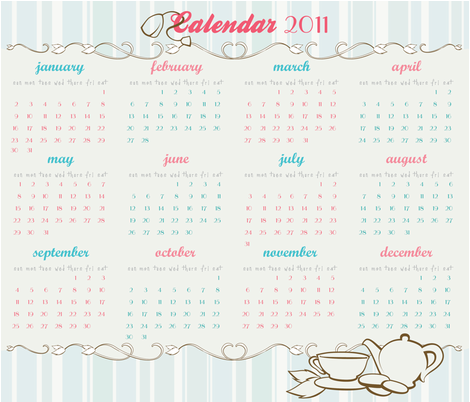 Tea Calendar fabric by marimuraro on Spoonflower - custom fabric