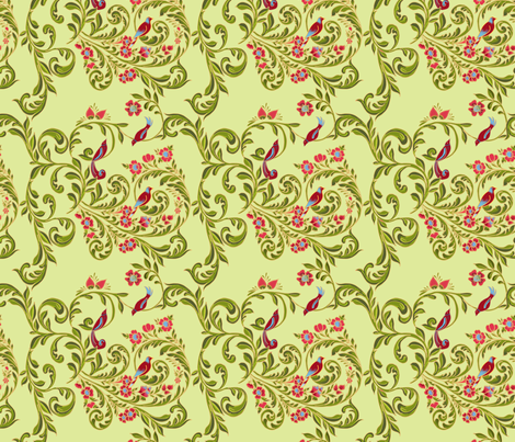 volute_russe_anis fabric by nadja_petremand on Spoonflower - custom fabric