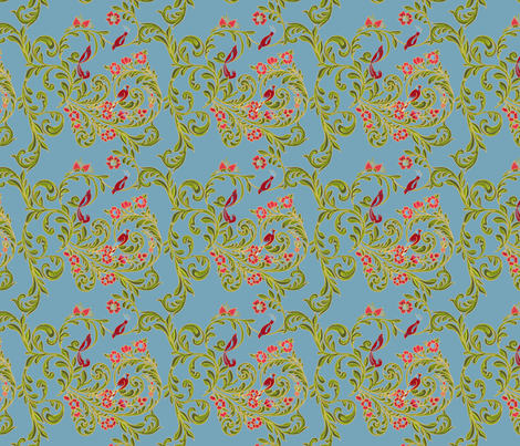 volute_russe_bleu fabric by nadja_petremand on Spoonflower - custom fabric