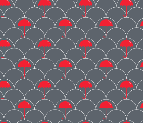 Red Umbrella fabric by newmomdesigns on Spoonflower - custom fabric