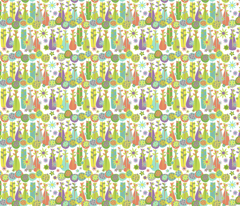 Vase Buddies mini (multi) fabric by happyjonestextiles on Spoonflower - custom fabric