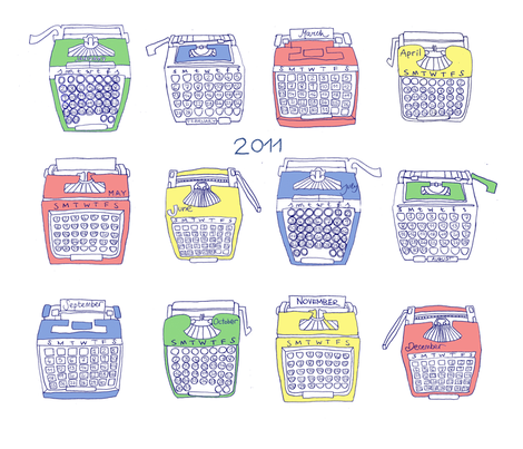 typing 2011 fabric by chezmargot on Spoonflower - custom fabric