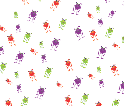 Halloween Monsters fabric by wendyg on Spoonflower - custom fabric