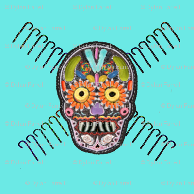 candy_skull_and_Cross_fabric