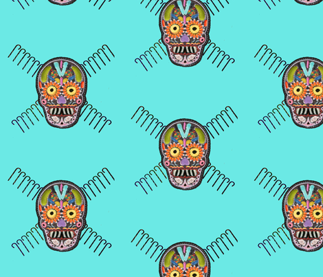 candy skull fabric by farrellart on Spoonflower - custom fabric