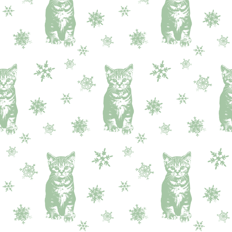 Holly's Snow Daze fabric by hauteideas on Spoonflower - custom fabric