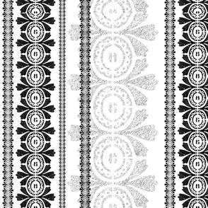 Striped fleur-de-lis pattern