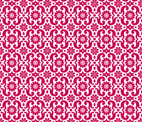 French Red LARGE PRINT fabric by happysewlucky on Spoonflower - custom fabric