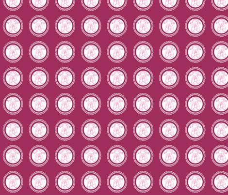 kokeshi doll circles fabric by woolybumblebee on Spoonflower - custom fabric