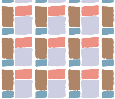 Retro Color Blocks fabric by woolybumblebee on Spoonflower - custom fabric