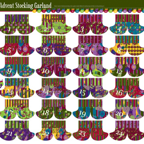 Advent Stocking Garland