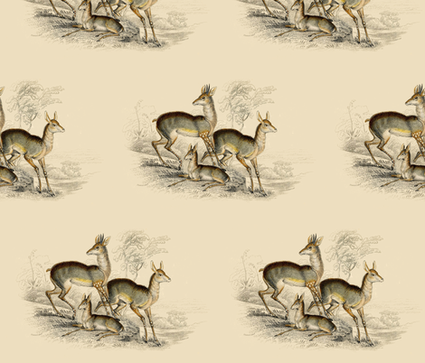 Antelope fabric by dolphinandcondor on Spoonflower - custom fabric