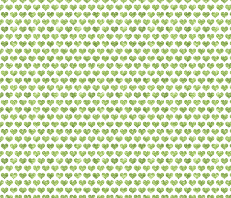 Glitter Hearts Green fabric by cynthiafrenette on Spoonflower - custom fabric