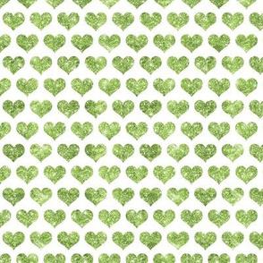 Glitter Hearts Green