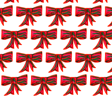 Holiday Bow fabric by sewslow on Spoonflower - custom fabric