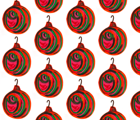 Holiday Ornament fabric by sewslow on Spoonflower - custom fabric