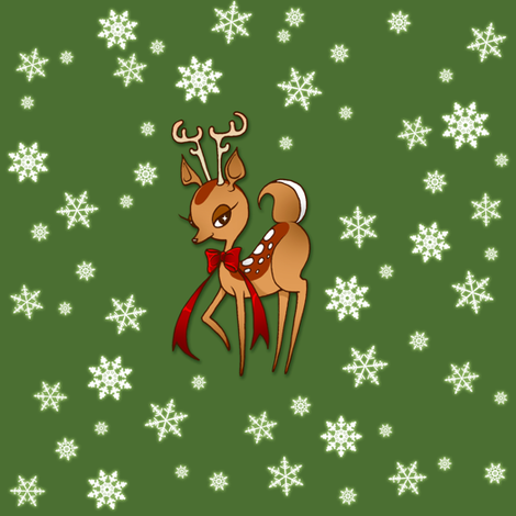 Holiday Deer fabric by jadegordon on Spoonflower - custom fabric