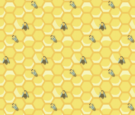 Medium Vintage Worker Bees fabric by nightgarden on Spoonflower - custom fabric