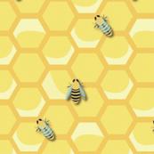 Medium Vintage Worker Bees