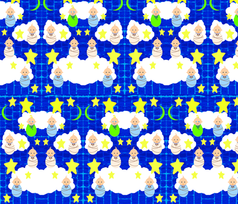 Mostly Sleepy Babies fabric by robin_rice on Spoonflower - custom fabric