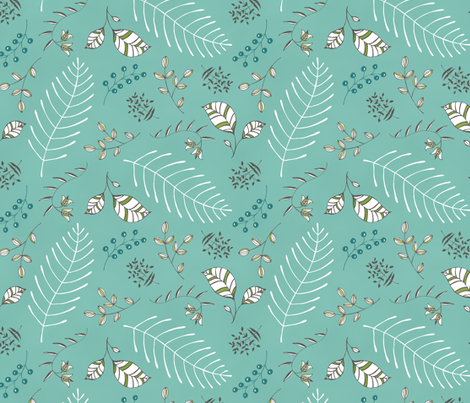 Fabulous Flora - BLUE fabric by pattysloniger on Spoonflower - custom fabric
