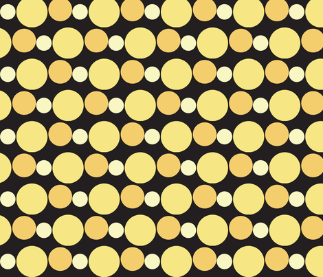 Bee Dots fabric by nightgarden on Spoonflower - custom fabric