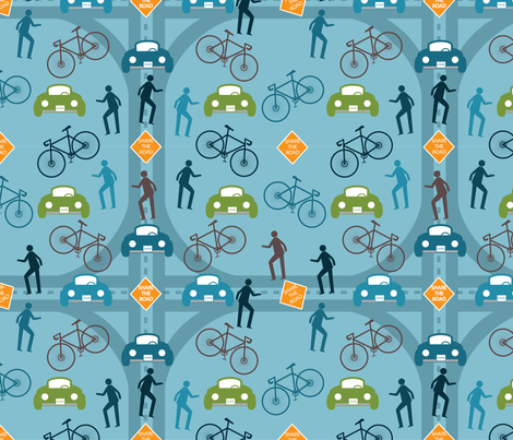 Road for All_GG fabric by deesignor on Spoonflower - custom fabric