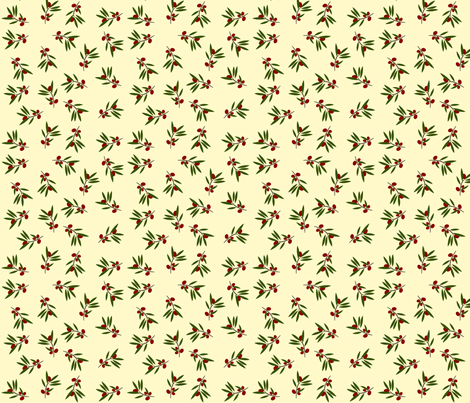 Bunches on Cream fabric by featheredneststudio on Spoonflower - custom fabric