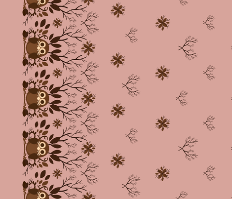 Owl Border fabric by marimuraro on Spoonflower - custom fabric