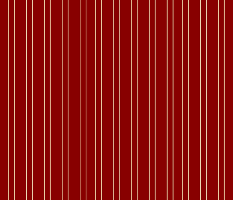 White stripe on Red fabric by featheredneststudio on Spoonflower - custom fabric