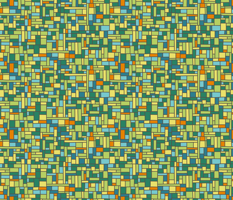 Mod Mosiac fabric by lighthearts on Spoonflower - custom fabric