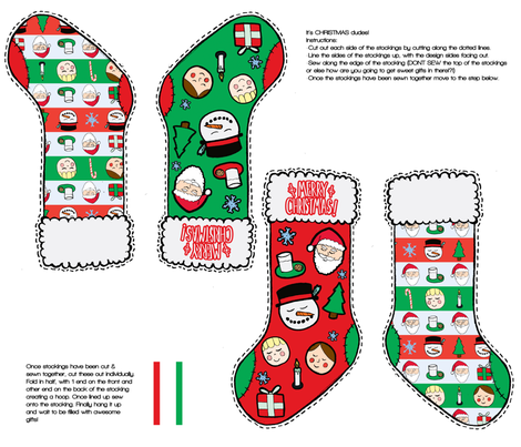 Its_Christmas_Dude fabric by chrmng_industries on Spoonflower - custom fabric