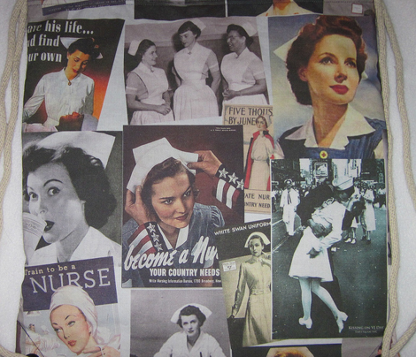 Retro nurses, posters, WW2