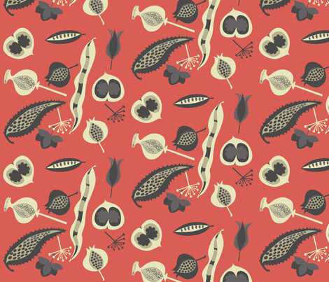 seedy_red fabric by antoniamanda on Spoonflower - custom fabric