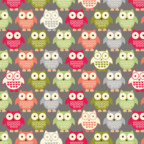 forest friends owls fabric by amel24 on Spoonflower - custom fabric