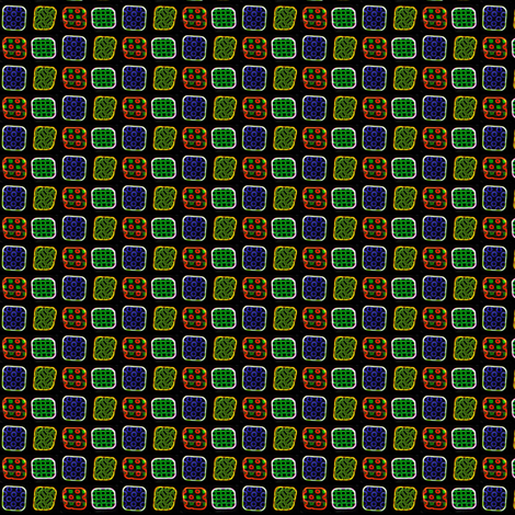 Neon Squares fabric by siya on Spoonflower - custom fabric