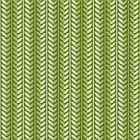 Willow Branch Stripe - Green fabric by siya on Spoonflower - custom fabric