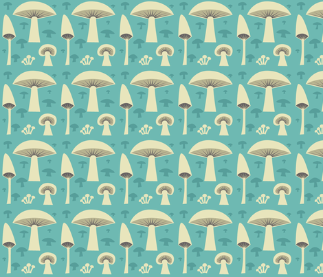 mush_green fabric by antoniamanda on Spoonflower - custom fabric