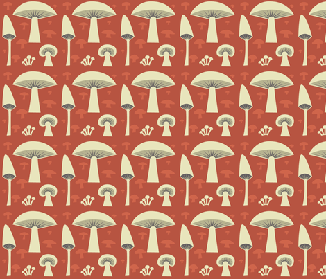 mush_red fabric by antoniamanda on Spoonflower - custom fabric