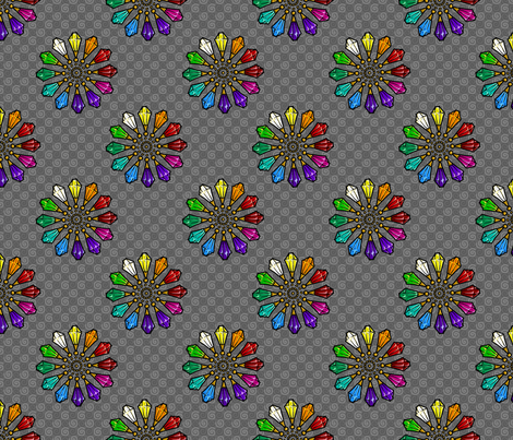 Rainbow Crystals fabric by siya on Spoonflower - custom fabric