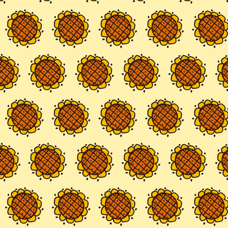 Sunny Flower fabric by siya on Spoonflower - custom fabric
