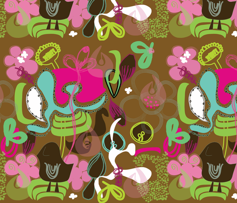 Vintage Gardens Paisley Dreams fabric by sbd on Spoonflower - custom fabric
