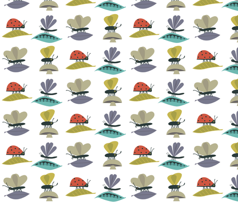 bugssquare fabric by antoniamanda on Spoonflower - custom fabric