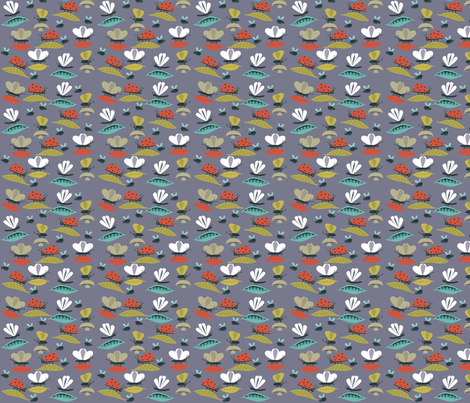 bug_grey_sq fabric by antoniamanda on Spoonflower - custom fabric