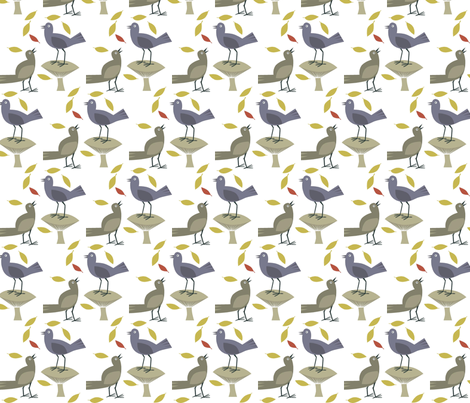 birds_in_Fall fabric by antoniamanda on Spoonflower - custom fabric