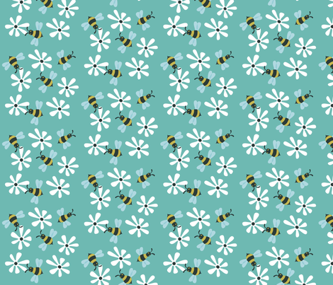 busygreen fabric by antoniamanda on Spoonflower - custom fabric