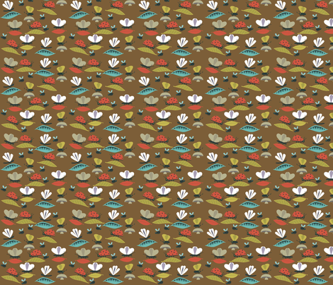 bug_brown fabric by antoniamanda on Spoonflower - custom fabric