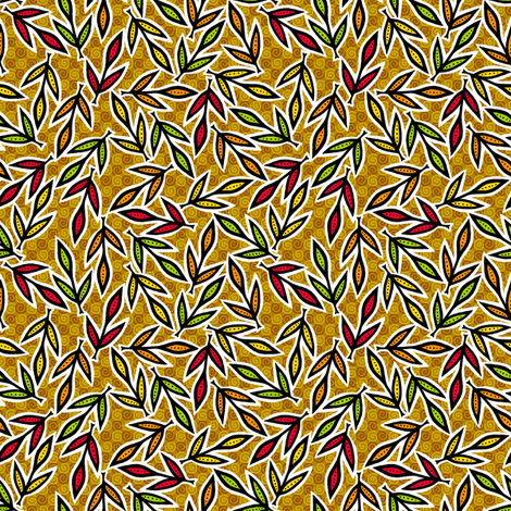 Autumn Leaves fabric by siya on Spoonflower - custom fabric